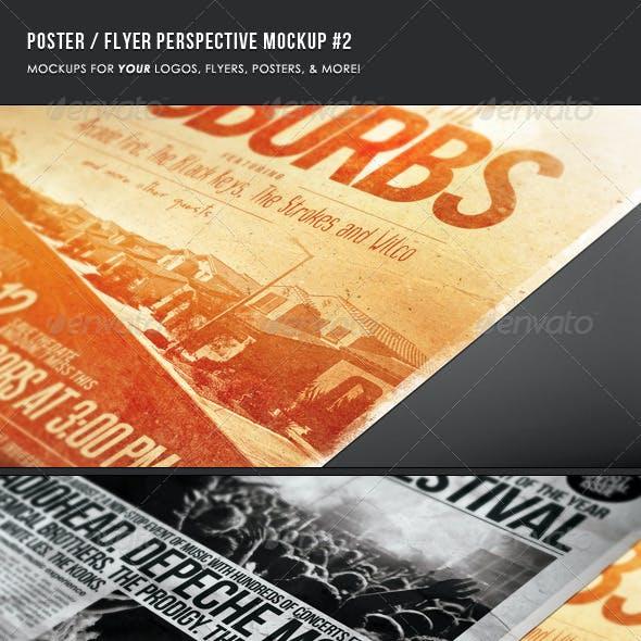 Poster & Flyer Perspective Mockup #2