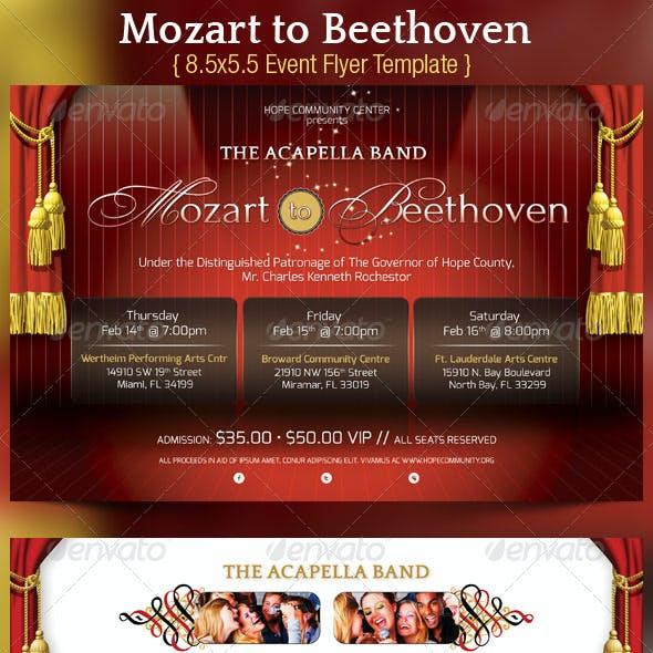 Mozart Beethoven Concert Flyer Poster Template