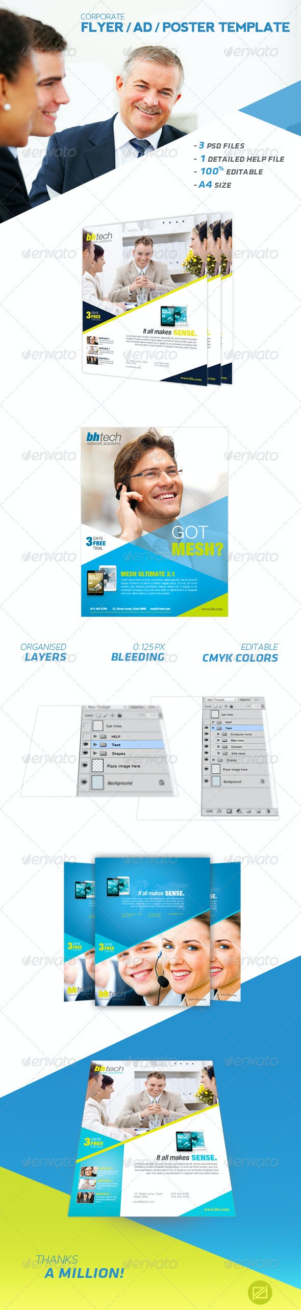 Corporate Flyer / AD / Poster Template - Corporate Flyers