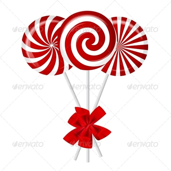 Striped Candy - Vector - Food Objects