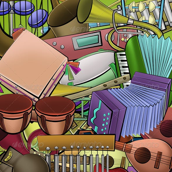 36 Cartoon Instruments Pack