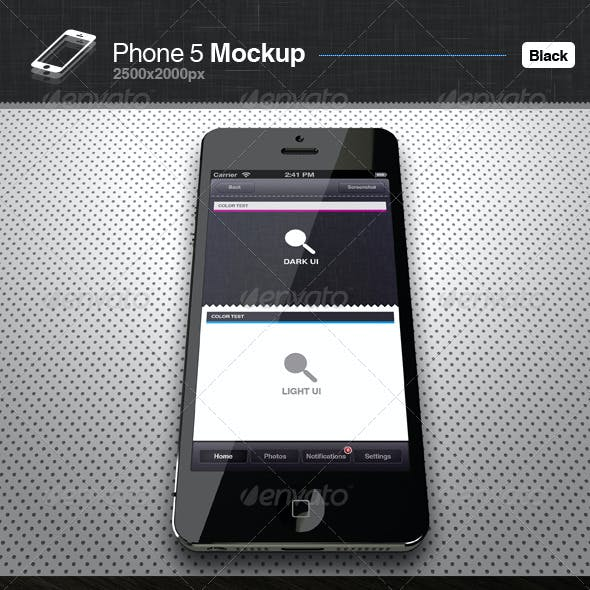 Phone 5 Mockup