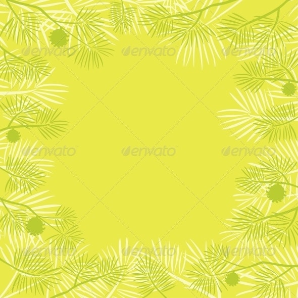 Pine branch, background - Patterns Decorative