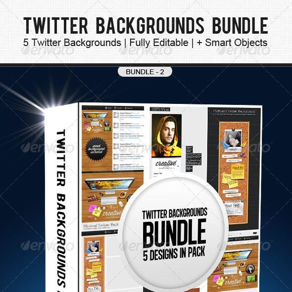 Twitter Backgrounds Bundle 2