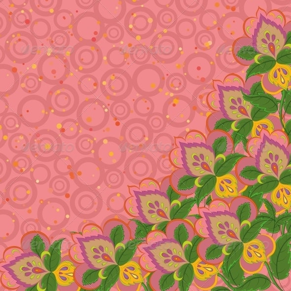 Background, abstract flowers - Patterns Decorative