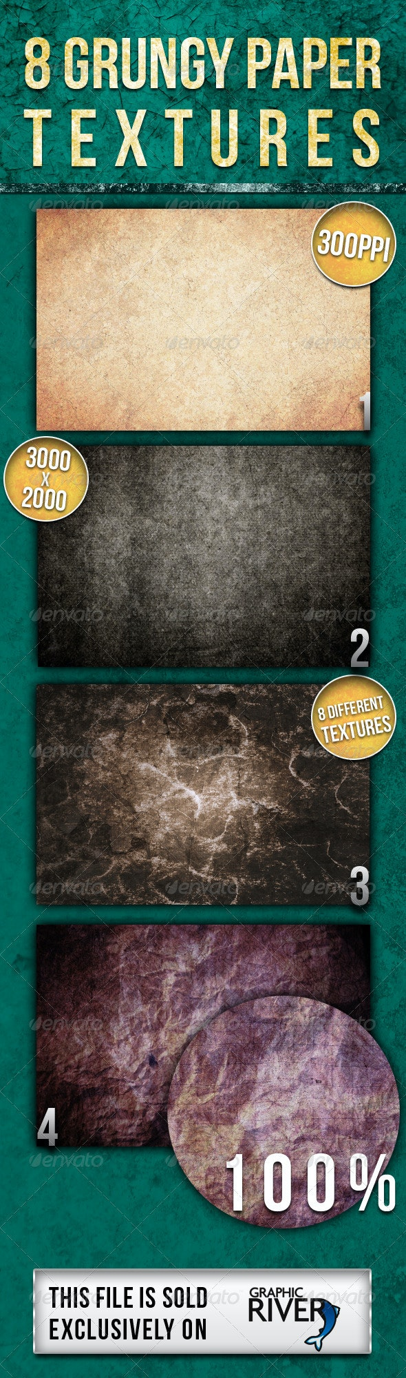 Cinematic Grunge Backgrounds - Paper Textures