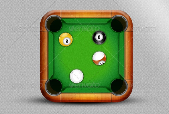 Billiard Table Icon - Objects Icons