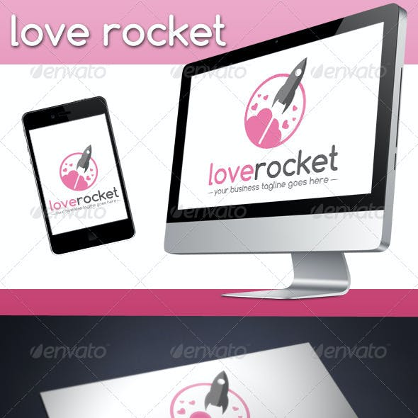 Love Rocket Logo Template
