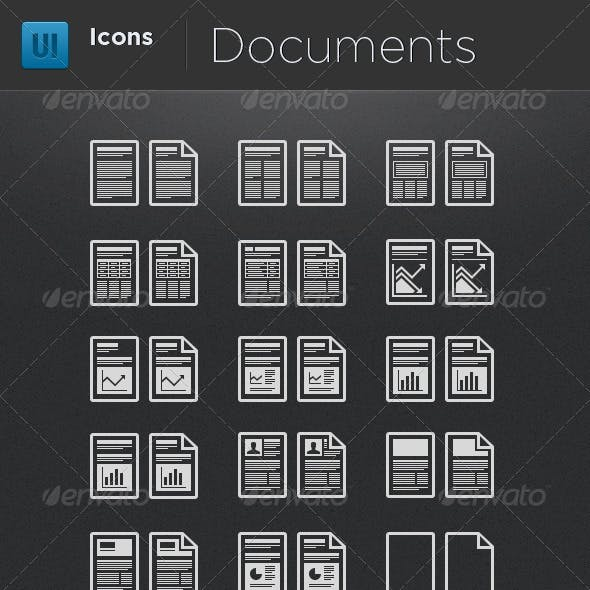 Infographic Elements - Document Icons