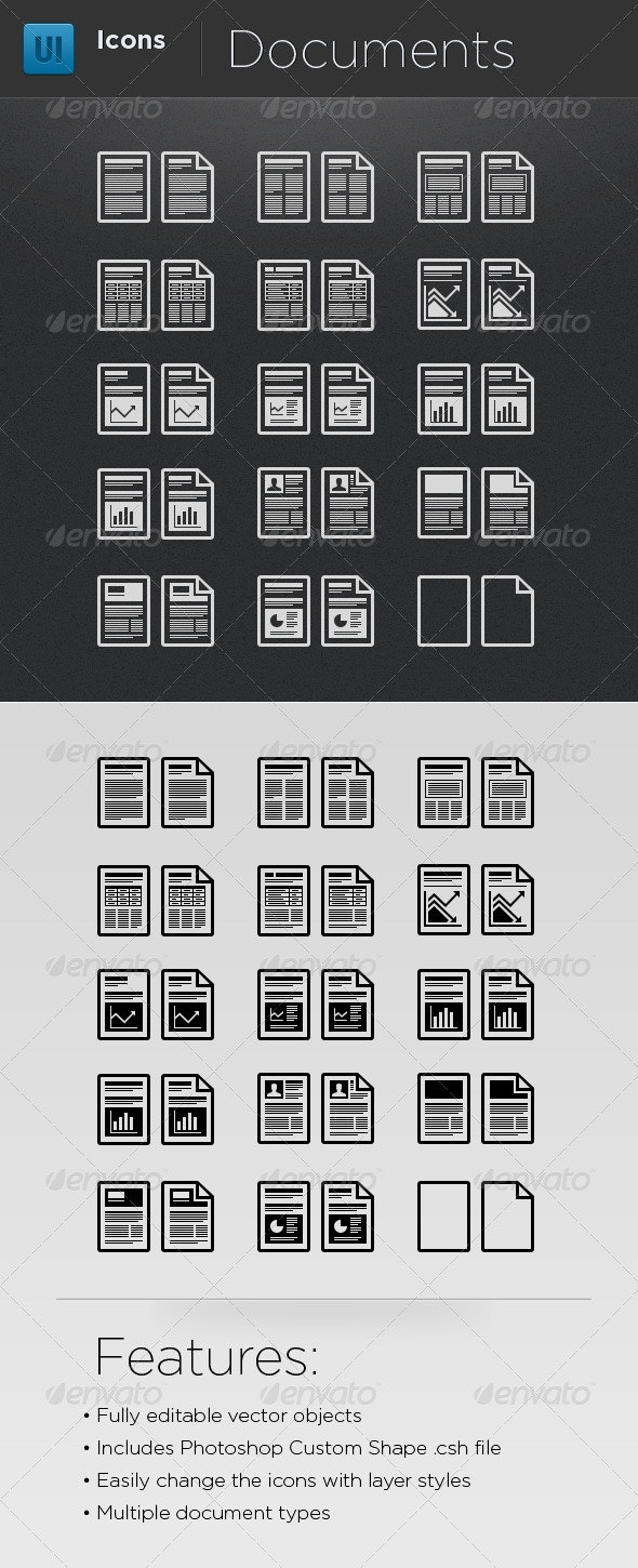 Infographic Elements - Document Icons - Business Icons