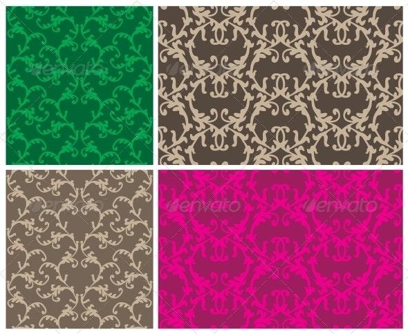 Two Elegant Seamless Patterns - Patterns Decorative