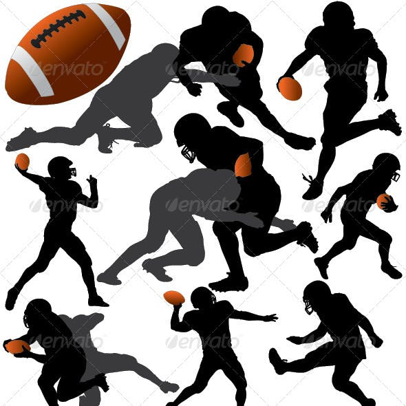 American Football Vector Silhouettes