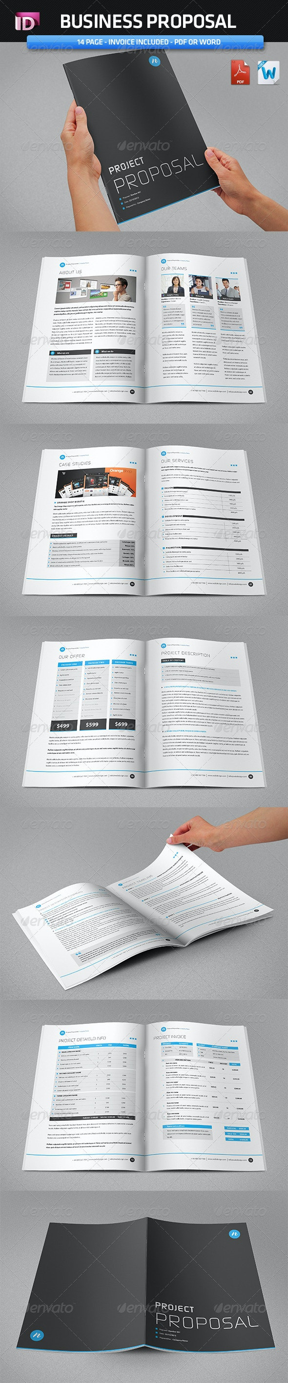 Proposal Template  (Vol 1) - Stationery Print Templates