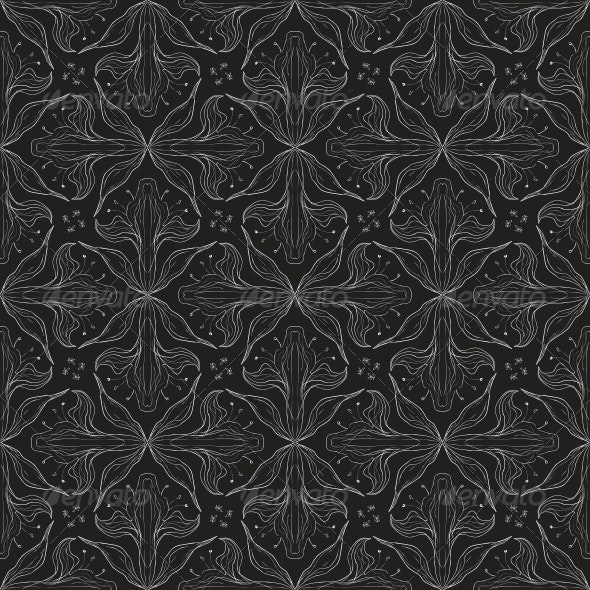 Seamless Vector in Baroque and Rococo Style - Patterns Decorative