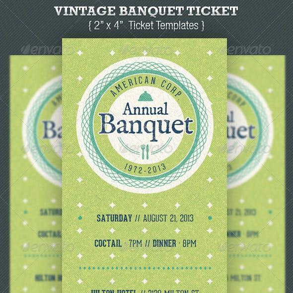 Vintage Banquet Ticket Template