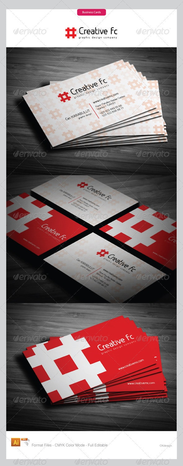 corporate business cards 265 - Business Cards Print Templates