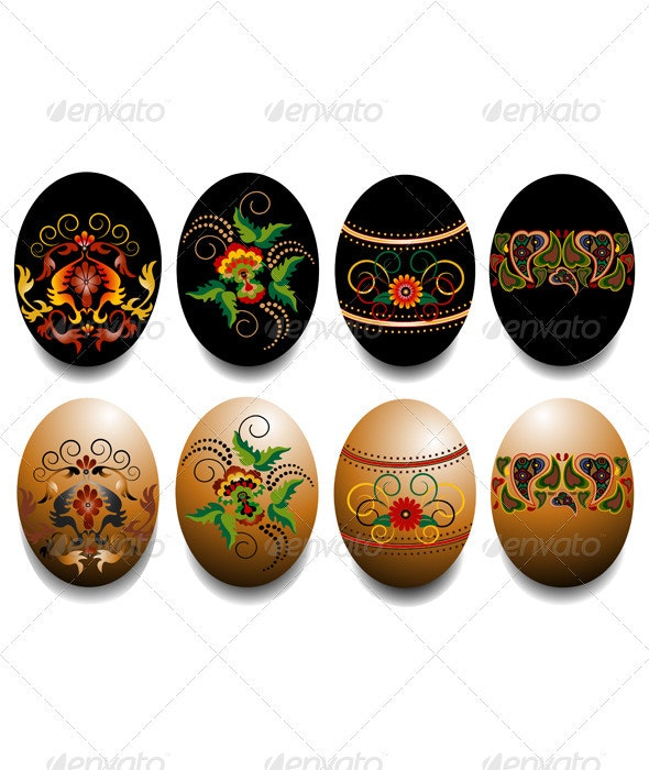Ornamented Easter Eggs  - Miscellaneous Seasons/Holidays
