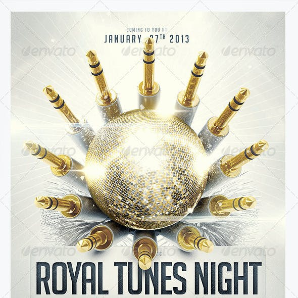 Royal Tunes Flyer Template