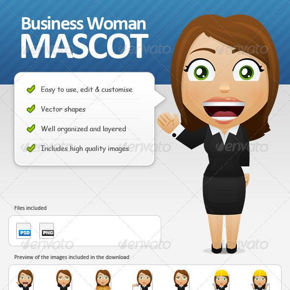 Business Woman Mascot