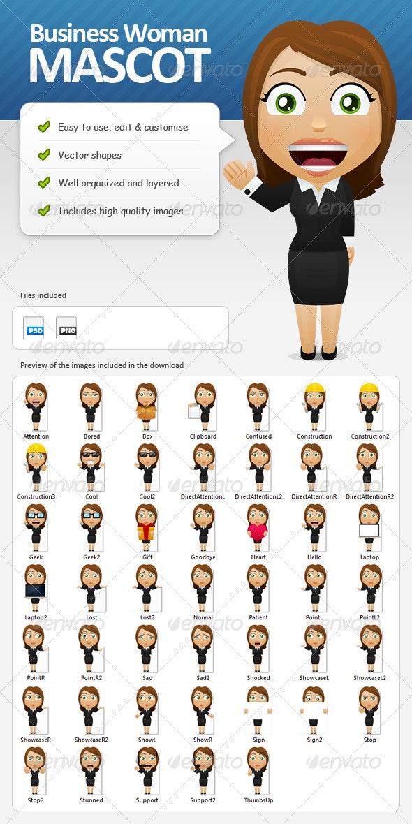 Business Woman Mascot - Characters Illustrations