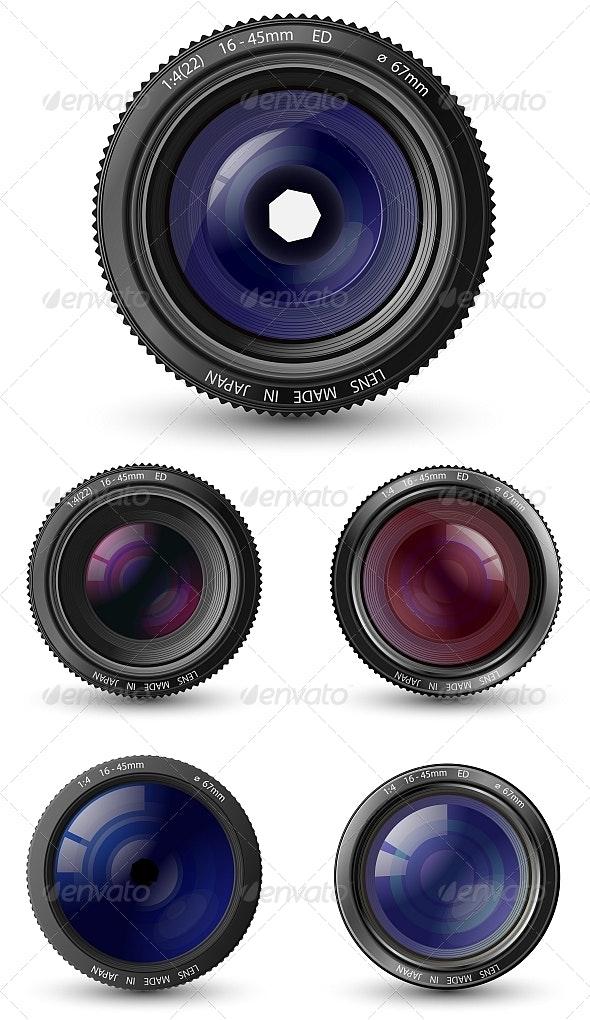 Camera Lenses - Objects Vectors