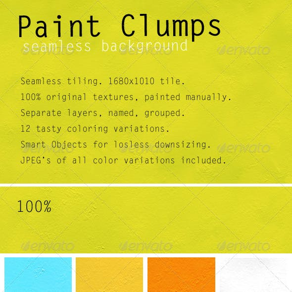 Clean Paint Clumps Seamless Background