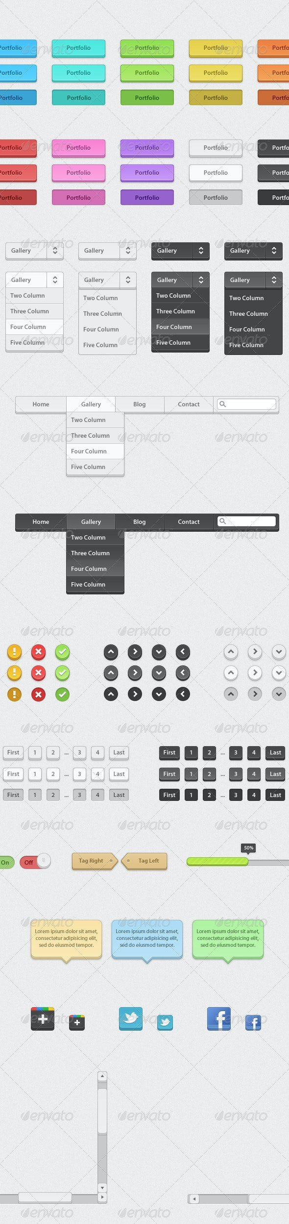 Professional Chunky / 3D Web Elements - Miscellaneous Web Elements