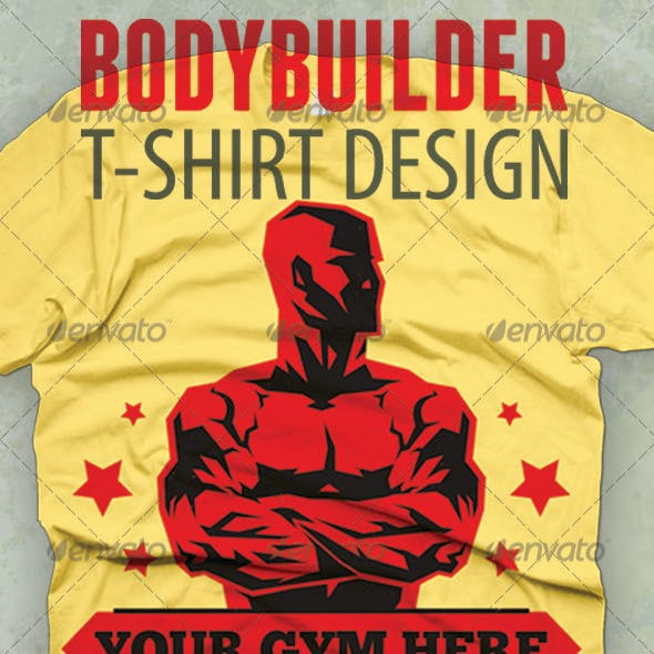 Bodybuilder T-shirt Design