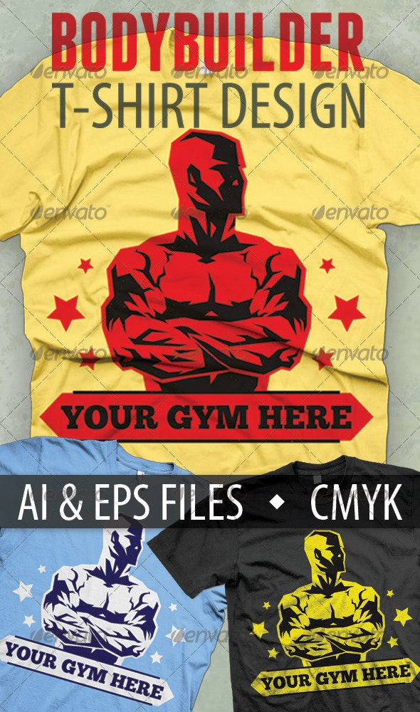 Bodybuilder T-shirt Design - Sports & Teams T-Shirts
