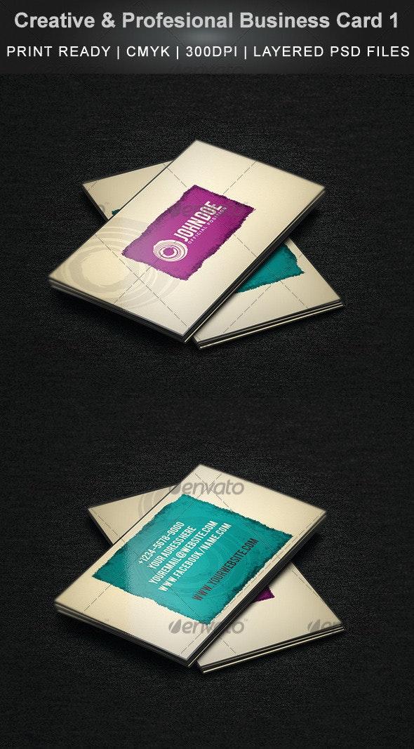 Creative & Profesional Business Card 1 - Creative Business Cards