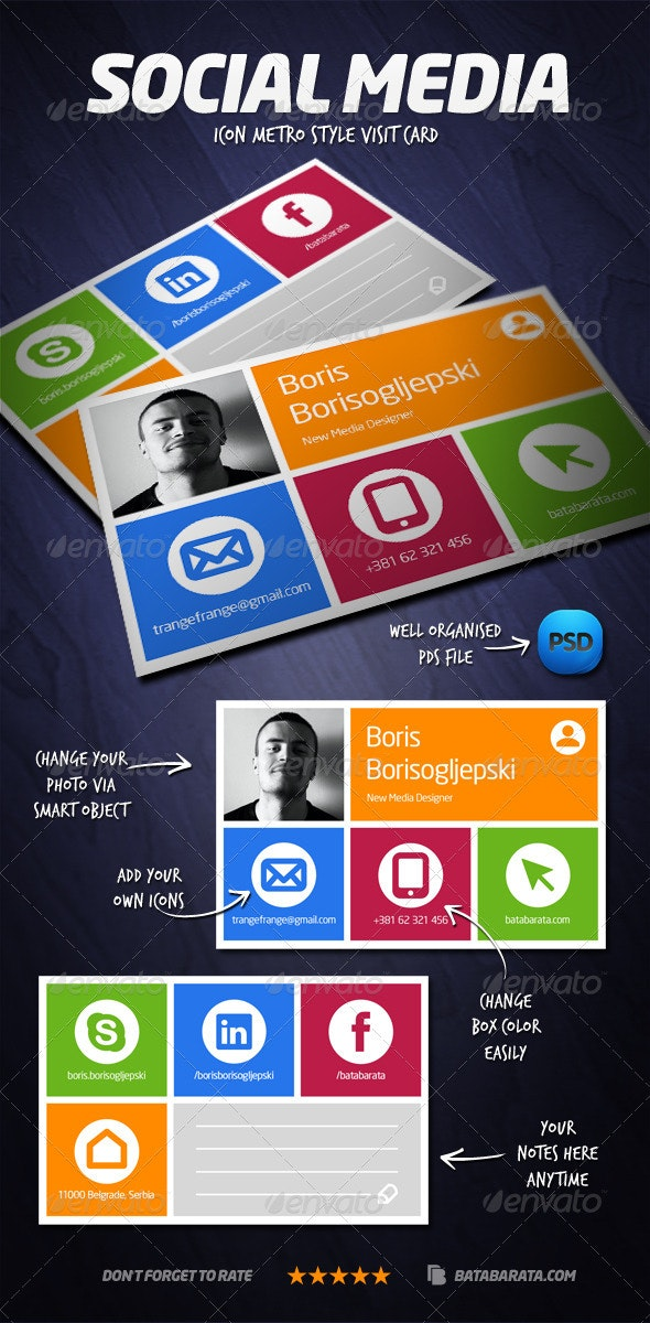 Social Media Visit Card - Creative Business Cards