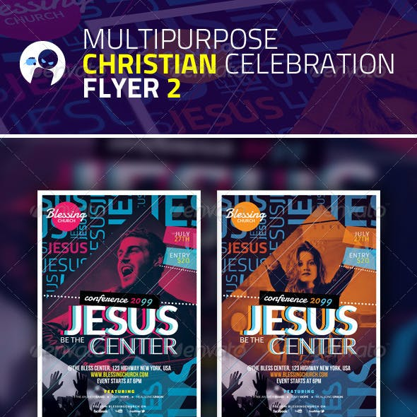 Multipurpose Christian Celebration Flyer 2