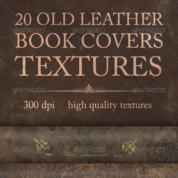 20 Old Leather Book Covers Textures