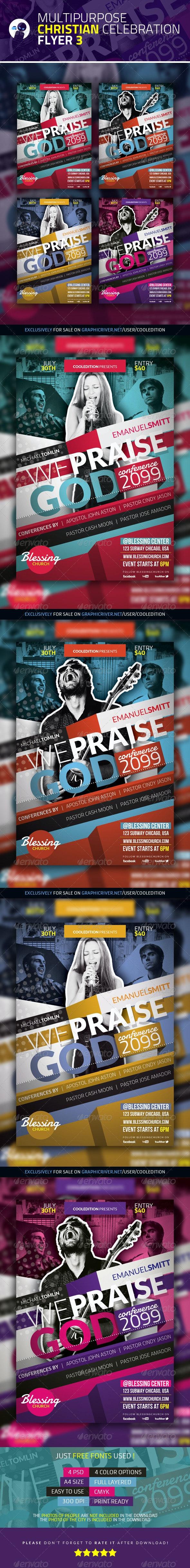 Multipurpose Christian Celebration Flyer 3 - Church Flyers