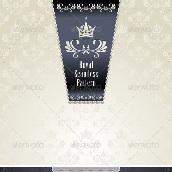 Royal Seamless Pattern with Crown