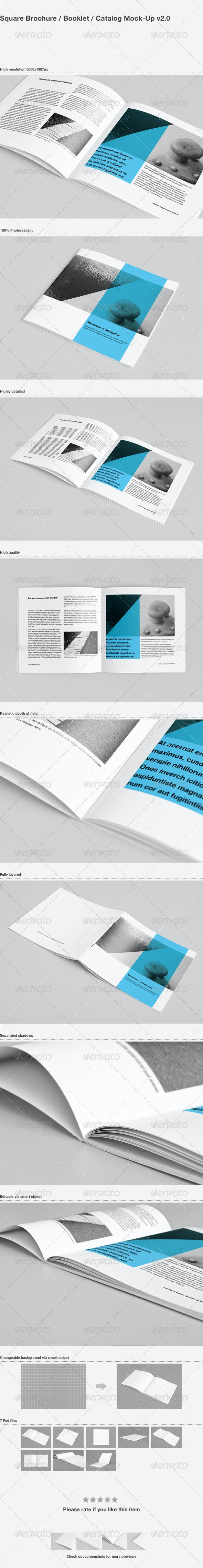 Square Brochure / Booklet / Catalog Mock-Up - Brochures Print