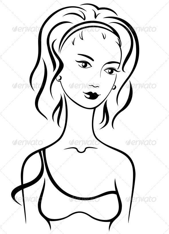 Beautiful female - People Characters