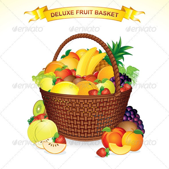 Fruit Basket - Food Objects