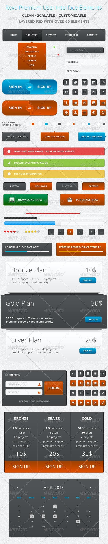 Revo Premium User Interface Elements - User Interfaces Web Elements