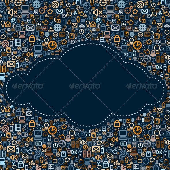 Social Media Cloud Vector - Media Technology