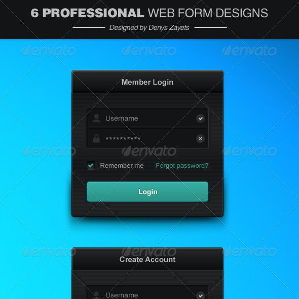 6 Professional Web Form Designs