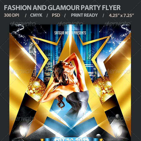 Fashion and Glamour Party Flyer