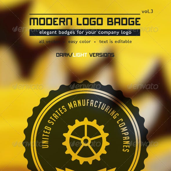 Modern Logo Badge vol3
