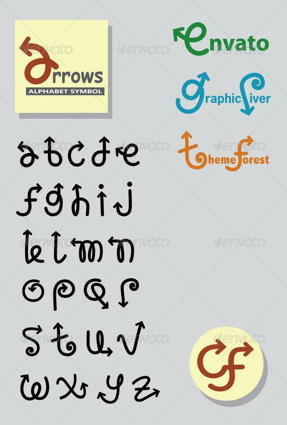 Arrows Alphabet Symbols - Decorative Symbols Decorative