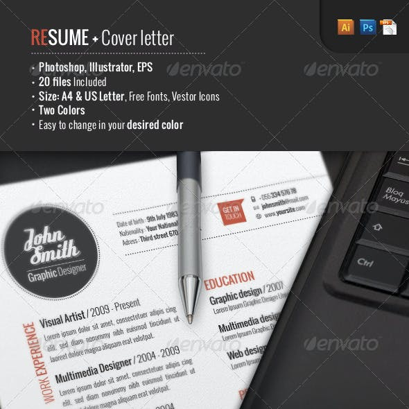 2 Piece | Resume + Cover Letter