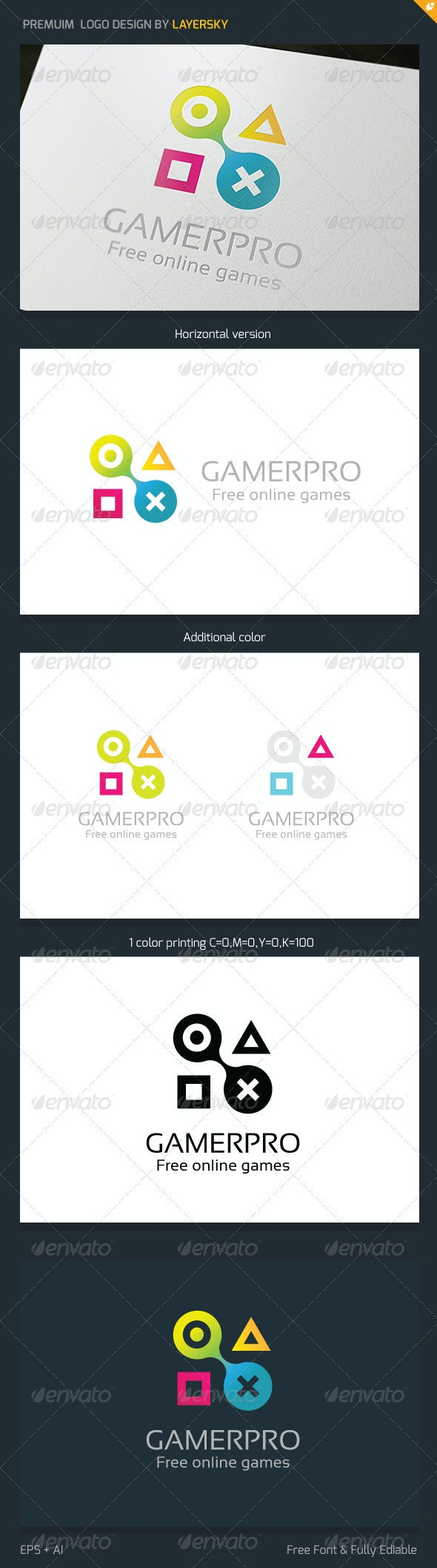 Gamer Logo V3 - Vector Abstract