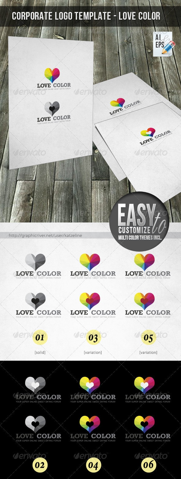 Corporate Logo - Love Color - Vector Abstract