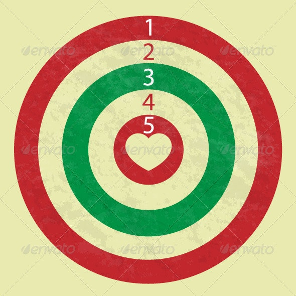 Love dartboard - Miscellaneous Characters