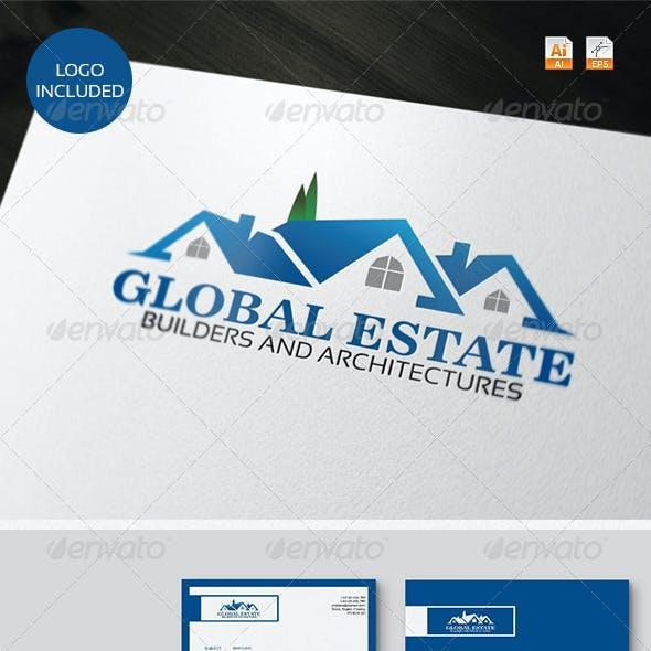 Global Estate Logo & Identity