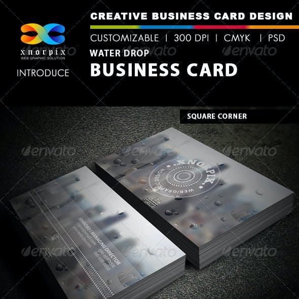 Water Drop Business Card